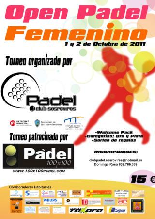 Open Padel Femenino en el Club de padel Sesrovires