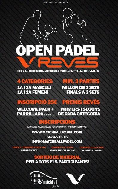 Open Pádel Revés en el Matchball Padel