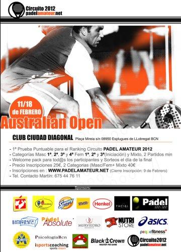 Open de Australia de Padel. Circuito padel amateur 2012
