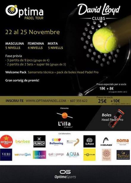 Optima Padel Tour en el David Lloyd