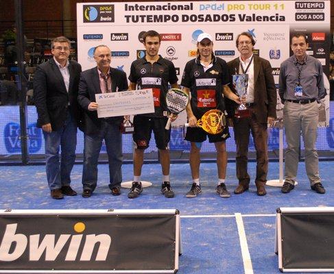 Pablo Lima y Juani Mieres campeones del PPT de Valencia