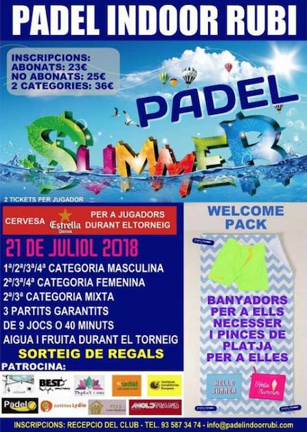 Padel Summer Padel Indoor Rubi