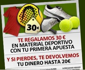 PadelBarcelona y BetClic te regalan 30euros en material deportivo