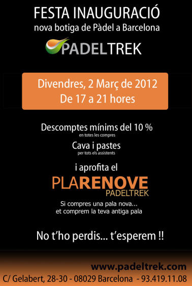 PadelTrek abre una nueva tienda de padel en Barcelona