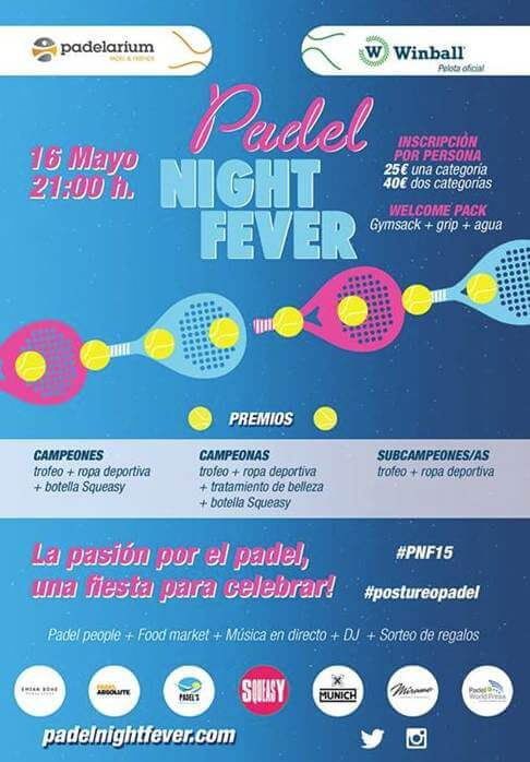 Padel Night fever en el Padelarium Gavà
