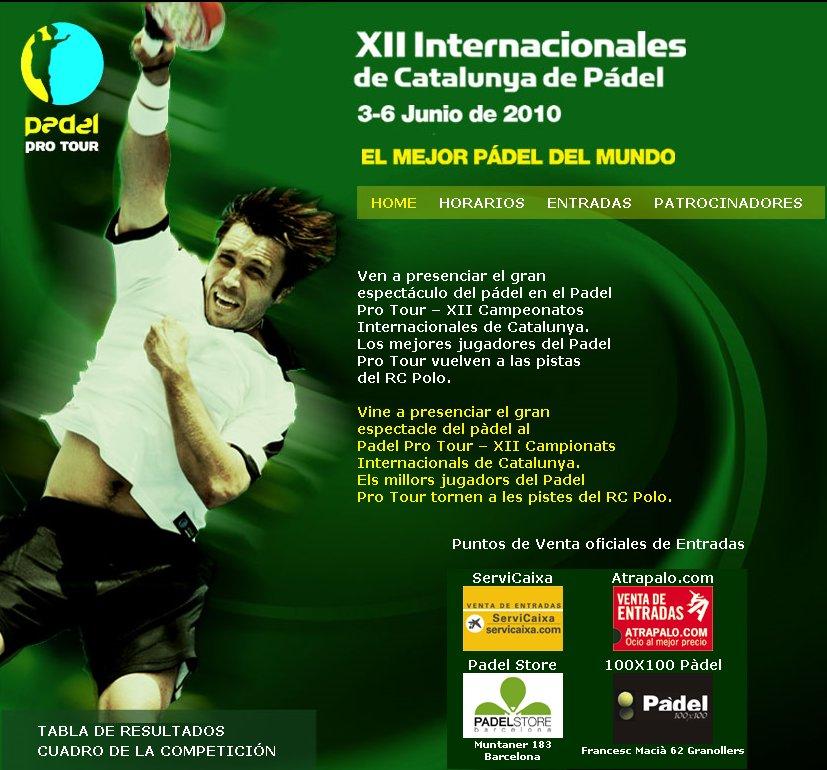 Padel Pro Tour XII INTERNACIONALES DE PADEL DE CATALUÑA