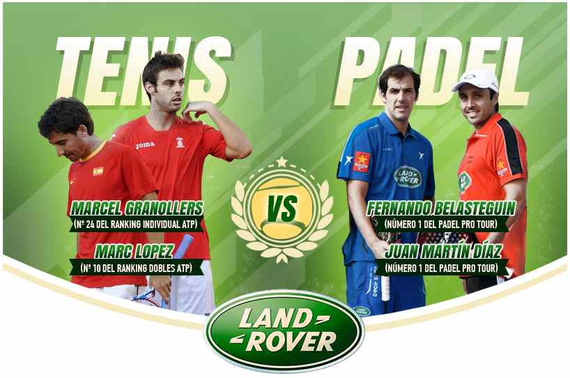 Pádel contra tenis. ¿ Quien ganará el reto ?