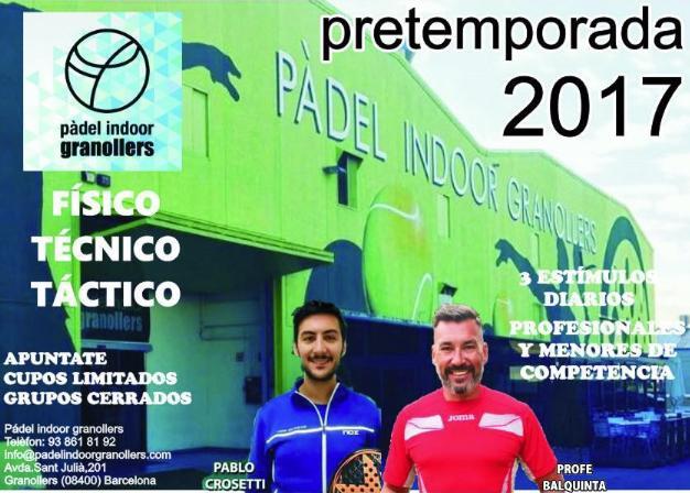 Pretemporada 2017 con Gustavo Balquinta en Granollers