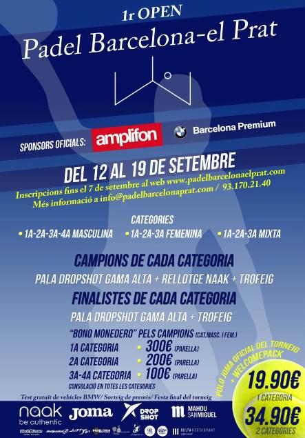 Primer torneo Open de padel el Prat