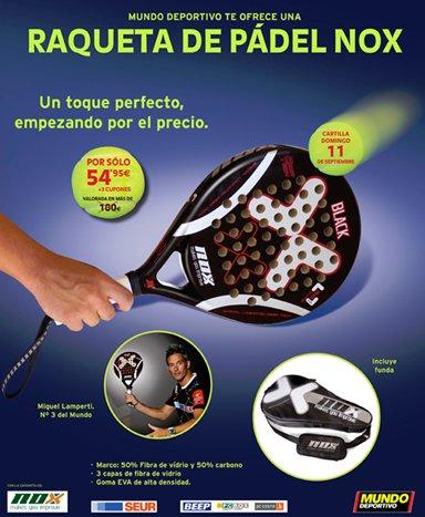 Promocion Pala Nox en el diario Mundo Deportivo
