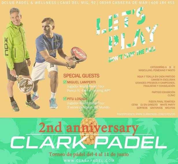 Segundo aniversario Clark Padel en Dclub