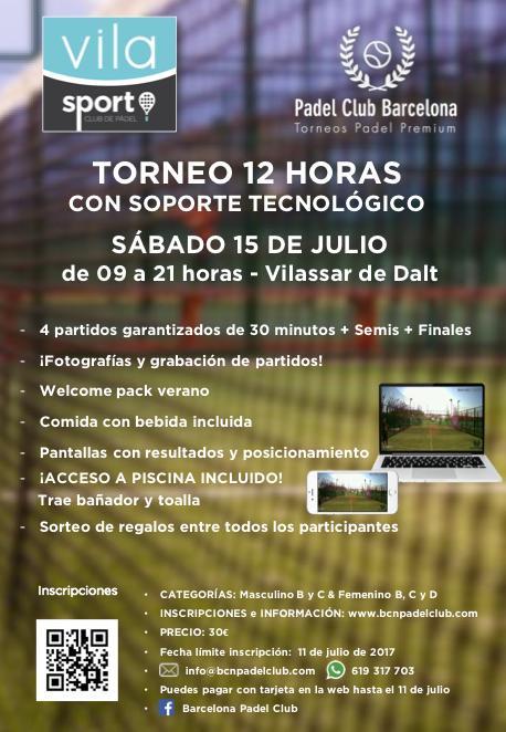 Torneo 12 horas de pádel Club Padel Vila Sort