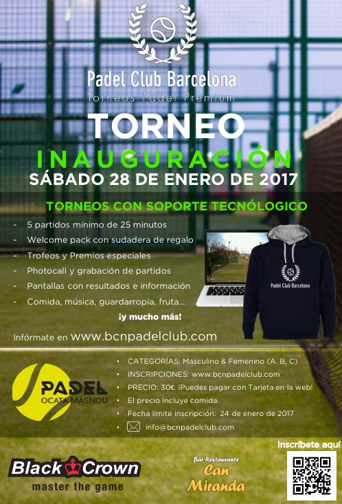 Torneo Barcelona Padel Club - Club Padel Ocata
