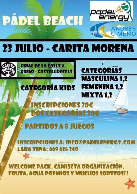 Torneo Beach Padelenergy