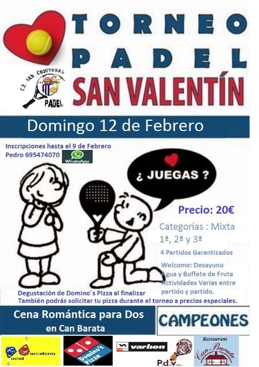 Torneo Enamorados en el Club Padel San Cristobal