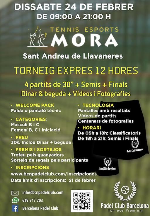Torneo Exprés club Tennis Mora