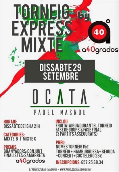 Torneo Express mixto a40grados