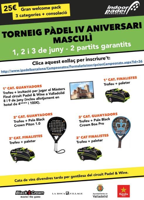 Torneo IV Aniversario Indoor Padel Barcelona