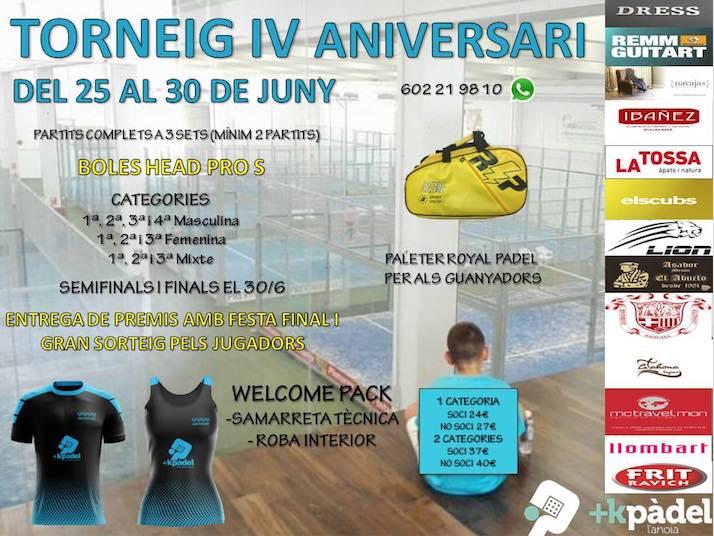 Torneo IV Aniversario mes Kpadel Anoia