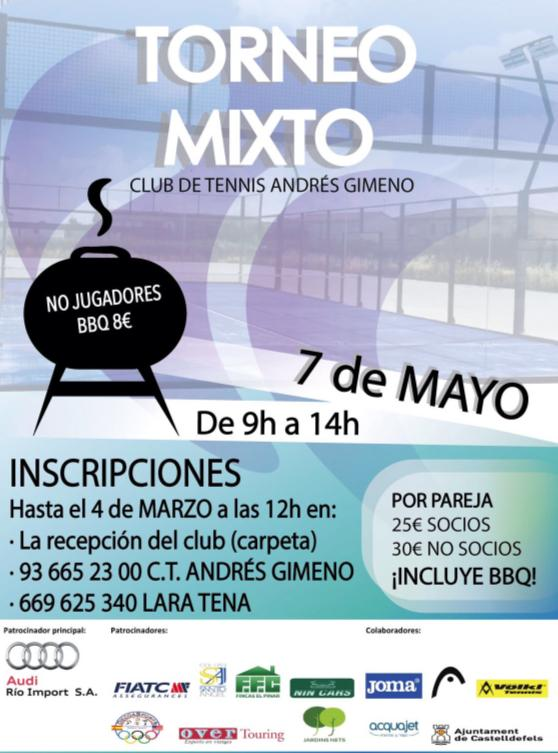 Torneo Mixto CT Andres Gimeno mayo 2017