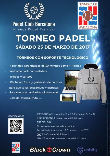 Torneo Padel Club Barcelona Tennis Club Badalona