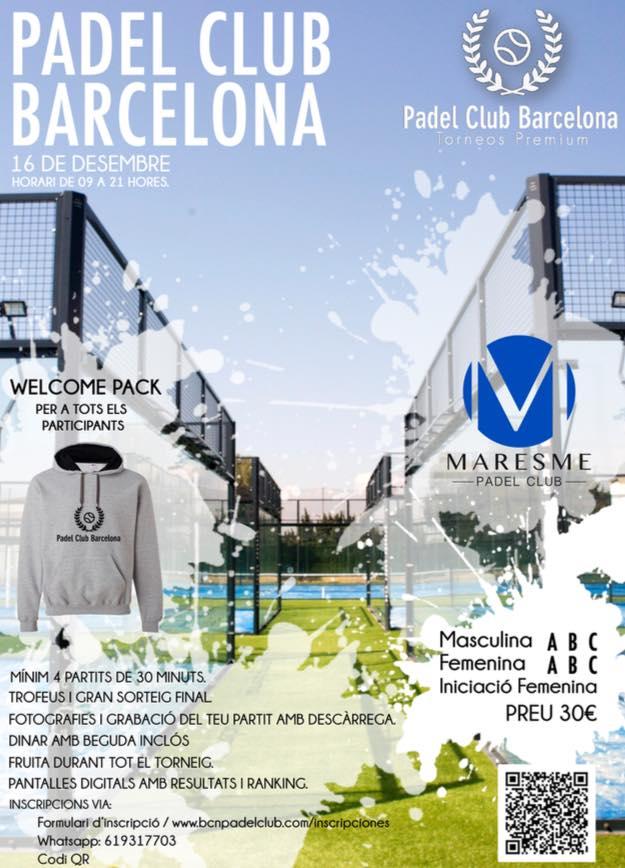 Torneo Padel Club Barcelona en el Maresme Padel Club