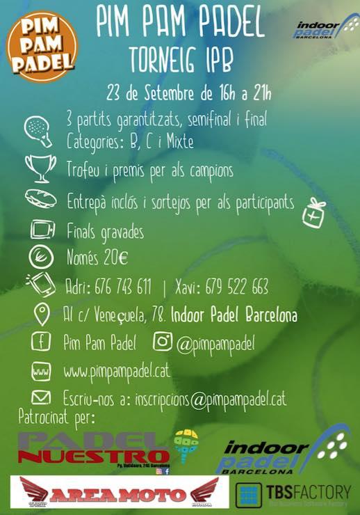 Torneo Pim Pam Padel Padel Indoor Barcelona