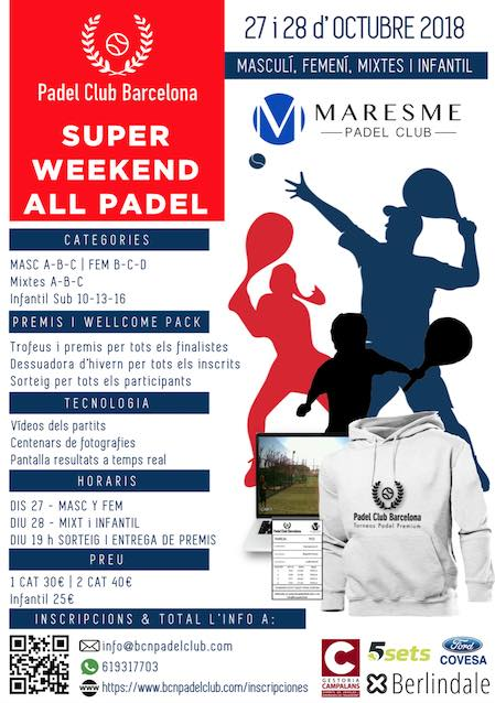 Torneo Super Weekend All Padel