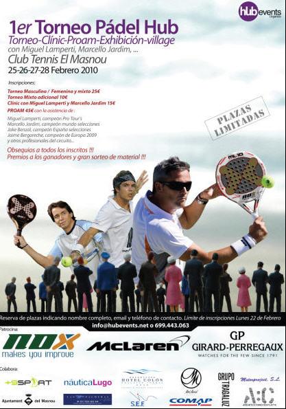 Torneo-clinic con Jardim, Lamperti y Benzal en el Tennis Masnou