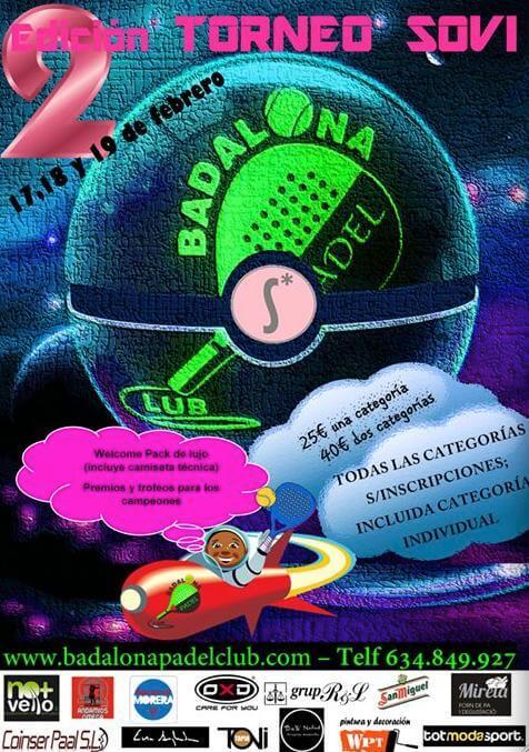Torneo de padel SOVI en el Badalona Padel Club