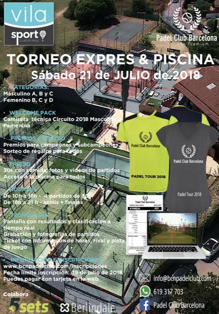 Torneo exprés & Piscina Vila Sport Padel Club