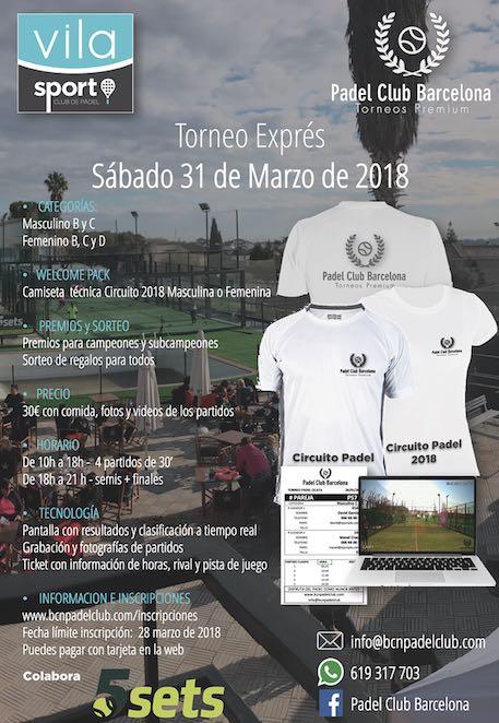 Torneo exprés Vila Sport Padel Club