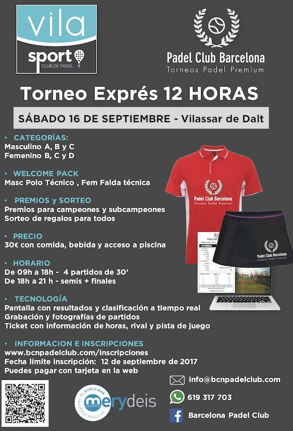 Torneo express 12 horas Club de pádel Vila Sport