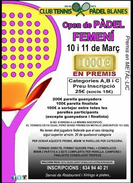 Torneo femenino de pádel