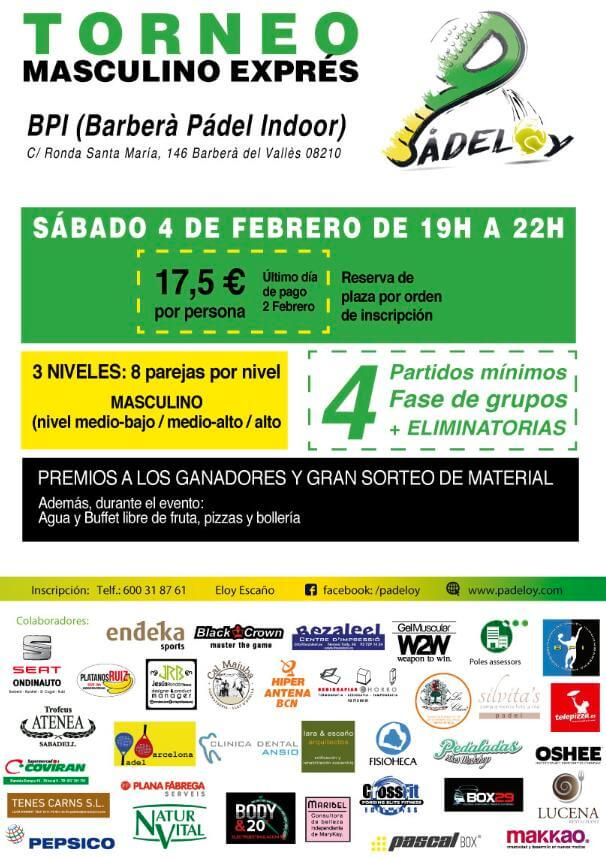 Torneo masculino expres Padeloy