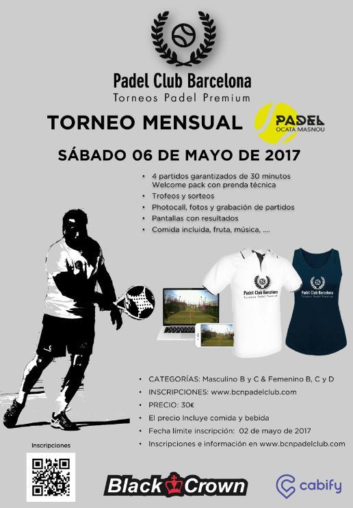 Torneo mensual mayo Padel Ocata