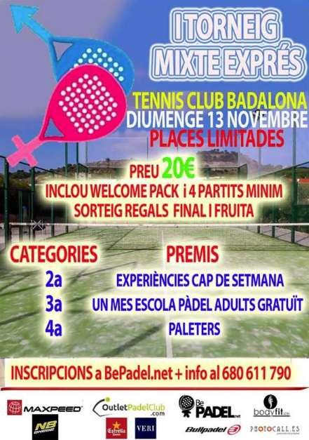 Torneo mixto Exprés en el Tennis Club Badalona
