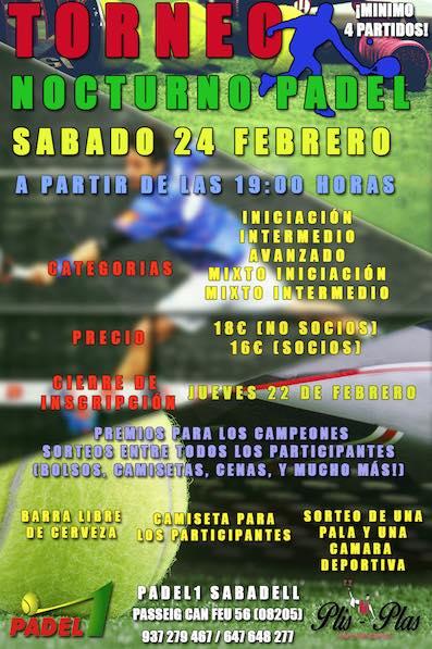 Torneo nocturno Padel1