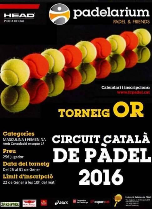 Torneo oro circuito catalan padel 2016 - Padelarium Gava