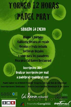 Torneo 12 horas Padel Prat