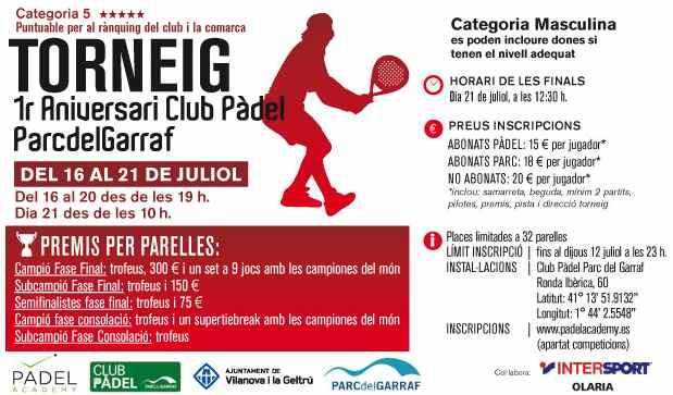 Torneo 1er anivelsario Club Padel ParcdelGarraf