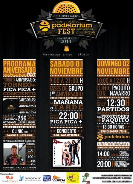 Torneo 1er aniversario Padelarium Gavà