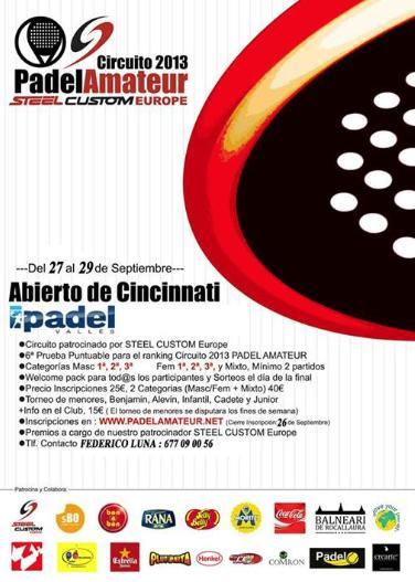 Torneo Abierto de cincinati Circuito PadelAmateur 2013