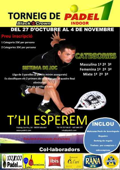 Torneo Blackcrown Padel1 Sabadell
