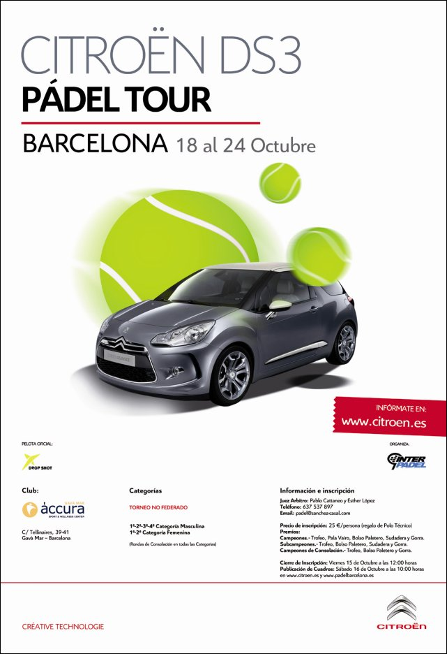 Torneo Citroen DS3 Padel Tour Barcelona