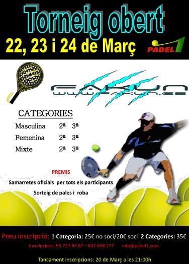 Torneo Fakun en el Padel 1 de Sabadell