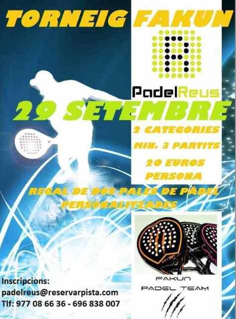Torneo Fakun en el Padel Reus