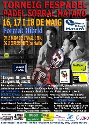 Torneo Fespadel Padel sorral Mataró