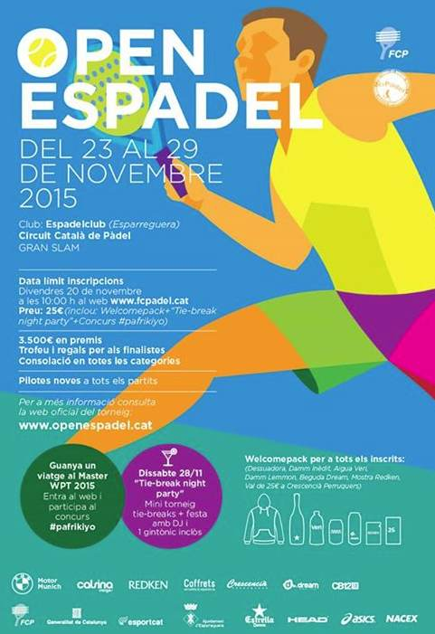Torneo Gran Slam Open Espadel Circuito catalan padel