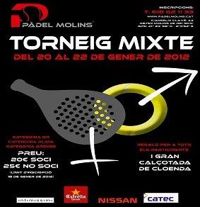 Torneo Mixto Padel Molins Enero 2012